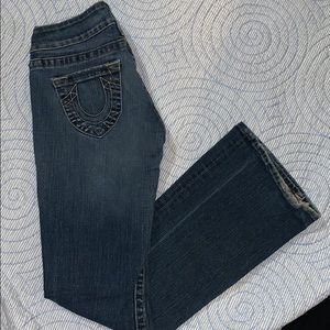 True religion denim jeans flare horseshoe 27